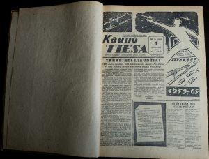 "Įrištas ""Kauno tiesa"" komplektas, 1960 m., I-VI mėn."