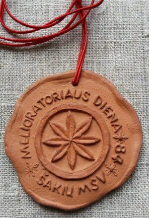 """Molinis medalis """"Melioratoriaus diena. Šakių MSV/84"""""""