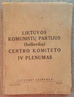 Lietuvos komunistų partijos (bolševikų) centro komiteto IV plenumas