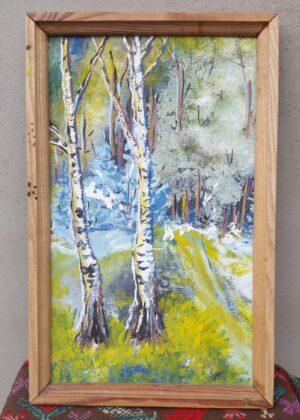 Paveikslas mediniame rėmelyje