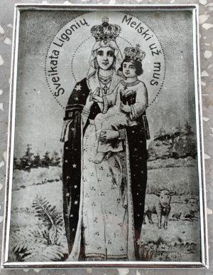 """Religinis paveikslas """"Sveikata ligonių, melski už mus"""""""