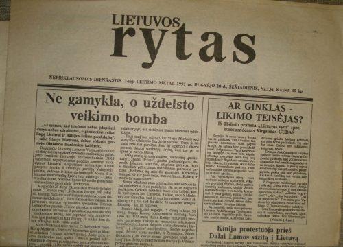 Lietuvos rytas, 1991-09-28