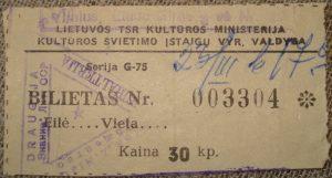 Bilietas į renginį