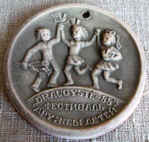 """Molinis medalis """"Draugystė - 88"""""""