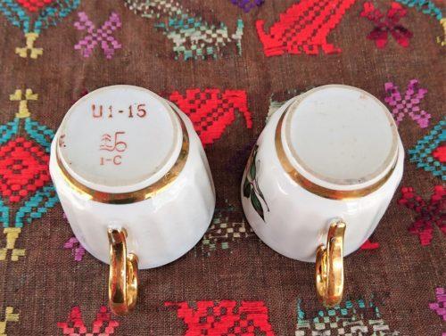 Porcelianiniai puodeliai (2 vnt.)