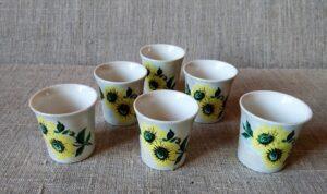 Stikliukai (6 vnt., keramika)