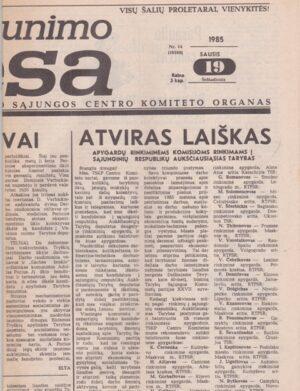 Komjaunimo tiesa, 1985-01-19