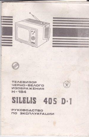 """Televizoriaus """"Šilelis 405 D-1"""" eksploatavimo instrukcija"""