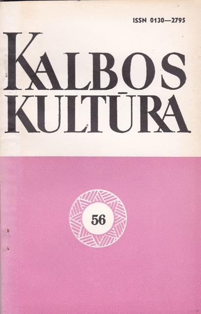 Kalbos kultūra Nr.56