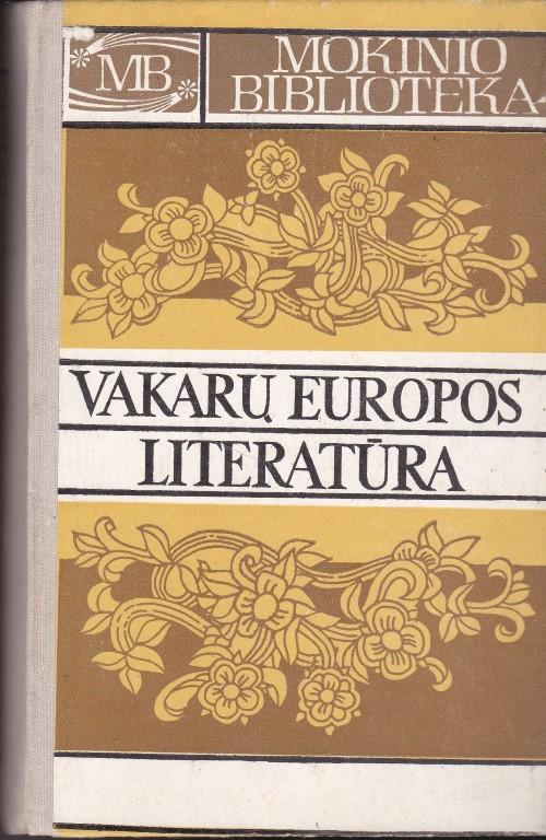 Mokinio biblioteka. Vakarų Europos literatūra