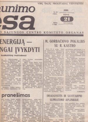 Komjaunimo tiesa, 1985-03-21
