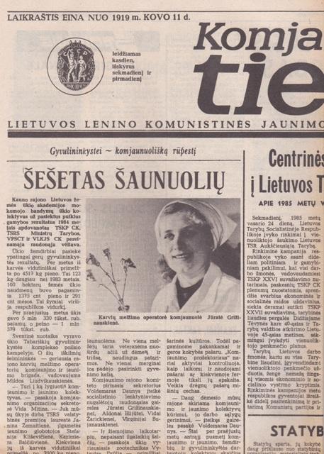 Komjaunimo tiesa, 1985-02-28