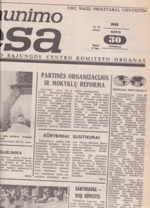 Komjaunimo tiesa, 1985-03-30