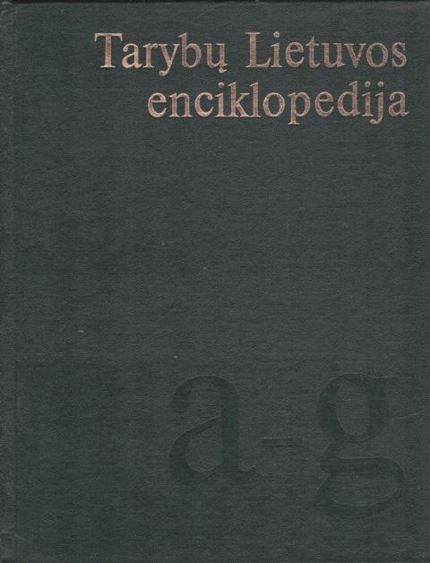 Tarybų Lietuvos enciklopedija, 1-4 tomai