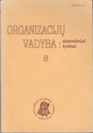 Organizacijų vadyba: sisteminiai tyrimai (8 knyga)