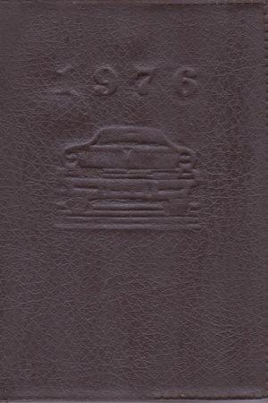 1976 metų vairuotojo žinynas