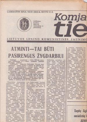 Komjaunimo tiesa, 1985-04-25