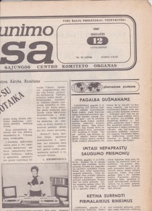 Komjaunimo tiesa, 1987-05-12