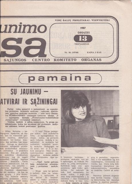 Komjaunimo tiesa, 1987-05-13
