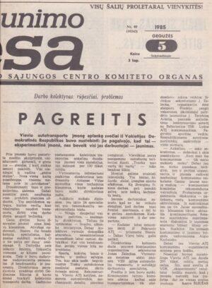 Komjaunimo tiesa, 1985-05-05