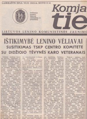 Komjaunimo tiesa, 1985-05-07