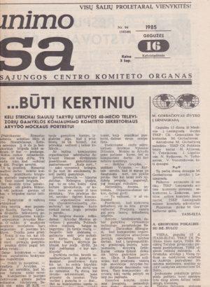 Komjaunimo tiesa, 1985-05-16