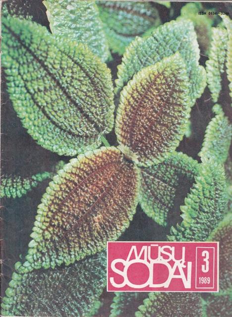 Mūsų sodai, 1989/3
