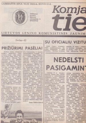 Komjaunimo tiesa, 1985-05-31
