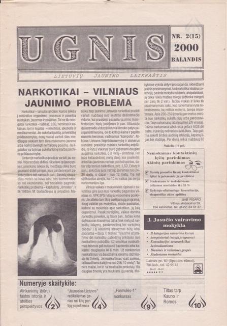 Ugnis, 2000/2