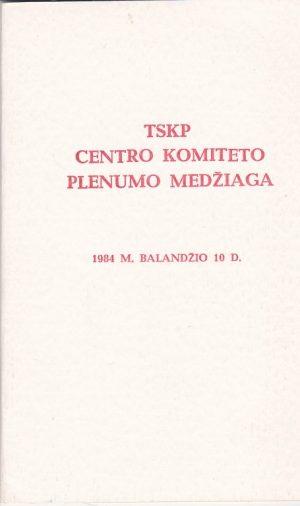 TSKP centro komiteto plenumo medžiaga