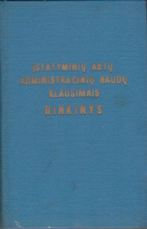 Įstatyminių aktų administracinių baudų klausimais rinkinys