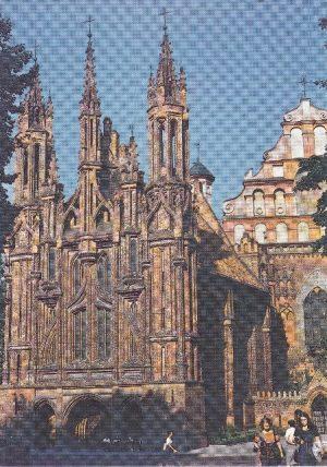 """Atvirukas """"Vilnius. Šv. Onos bažnyčia"""""""