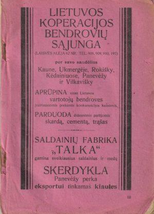 Lietuvos ūkininko kalendorius 1927 m.