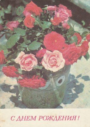 """Atvirukas """"Su Gimimo diena″, 1977"""