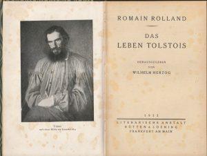 R. Rolland. Das leben Tolstois