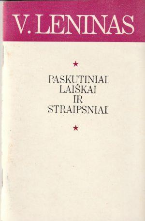 Leninas V. I. Paskutiniai laiškai ir straipsniai