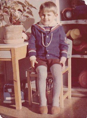 Sena fotografija - berniukas sovietiniame darželyje