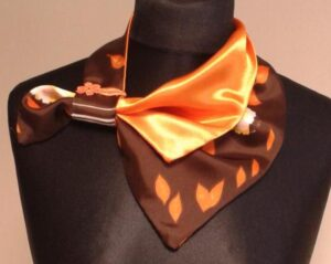 """Prancūziška kaklaskarė """"Mandarinas šokolade"""""""